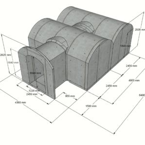 Keller 21,4 m2 STANDARD-LIEFERPAKET