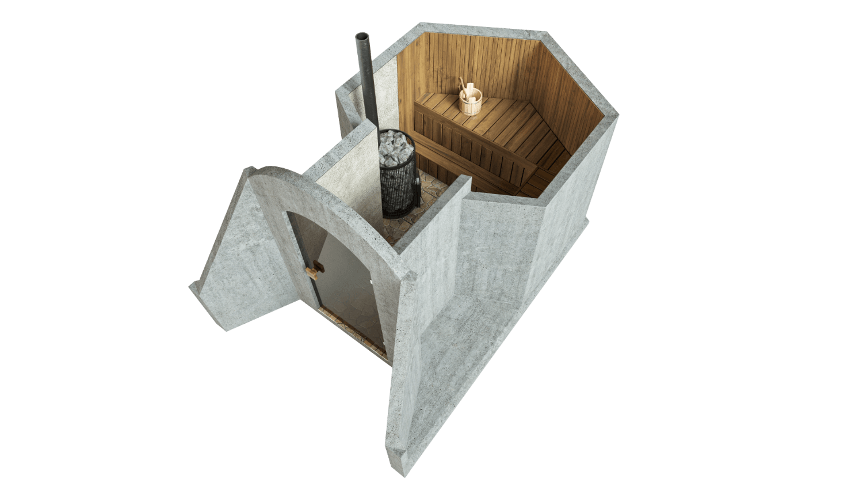 Sauna 4,5 m² PERUSPAKETTI