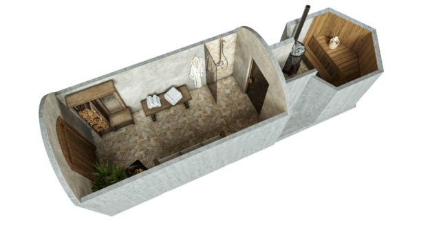 Sauna 14,2 m² PERUSPAKETTI