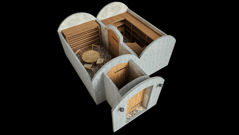 Kellari 21,4 m² PERUSPAKETTI