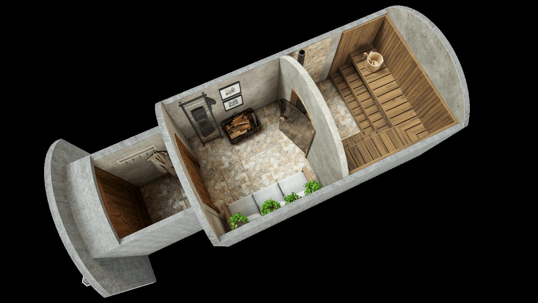 Sauna 11,7 m² PERUSPAKETTI