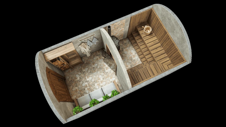 Sauna 9,7 m² PERUSPAKETTI